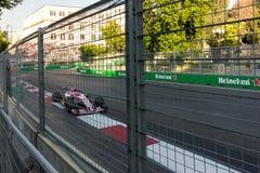 Baku, Azerbeidzjan - Juni 06, 2017: Formule 1 Grand Prix van de Grand Prix van Azerbeidzjan royalty-vrije stock fotografie