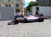Baku, Azerbeidzjan - Juni 06, 2017: Formule 1 Grand Prix van de Grand Prix van Azerbeidzjan stock fotografie