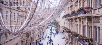 Baku, Azerbejdżan, Centrum ulica obrazy stock
