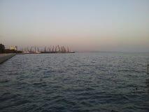 Baku Bay Royalty-vrije Stock Foto