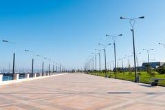 Baku bay embankment Royalty Free Stock Image