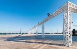 Baku bay embankment Royalty Free Stock Photos