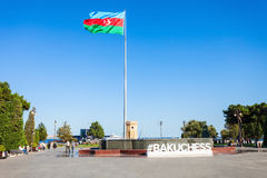 Baku boulevard, Caspian sea royalty free stock photos