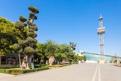 Baku boulevard, Caspian sea. Baku boulevard at the Caspian Sea embankment. Baku is the capital and largest city of Azerbaijan Royalty Free Stock Images