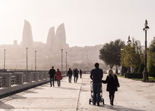 Baku Boulevard Royalty Free Stock Images