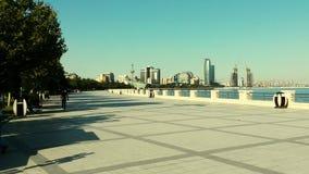 Baku city bay. Low angle baku city bay view Stock Image