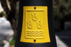 Baku city Emblem. On post Stock Photography