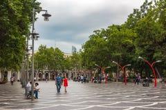 Baku city, fountain Square Stock Photos