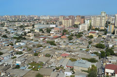 Baku city landscape. View from above Stock Photos