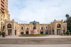 Baku City Monument zum Dichter Nasimi Stockfotos