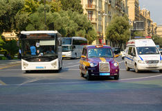 Baku city taxi on the street Royalty Free Stock Images