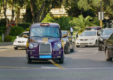 Baku city taxi on the street Stock Images
