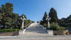 Baku city Upland park, high marble stairs Stock Photography