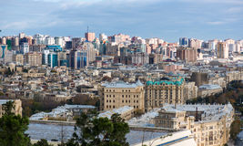 Baku City View. Baku has evolved as a busy modern city, now recovered from 70 years within the Soviet Union Stock Images