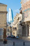 Baku City. View of Old Baku, old part of the city Stock Photography