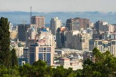 Baku cityscape architecture azerbaijan Stock Photos