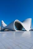 BAKU 27 DE DEZEMBRO: Heydar Aliyev Center sobre Fotografia de Stock Royalty Free