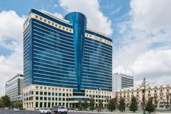 Baku - 18 de julho de 2015: Hilton Hotel o 18 de julho em Baku, Azerbaija Imagem de Stock Royalty Free
