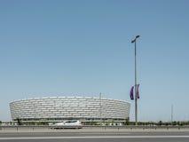 BAKU - 10 DE MAIO DE 2015: Baku Olympic Stadium em maio foto de stock royalty free