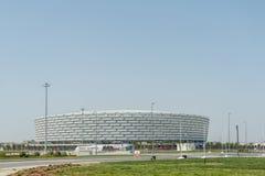 BAKU - 10 DE MAIO DE 2015: Baku Olympic Stadium em maio imagens de stock
