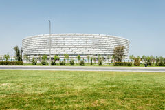 BAKU - 10 DE MAIO DE 2015: Baku Olympic Stadium em maio fotografia de stock