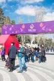 Baku - 21 de março de 2015: 2015 cartazes europeus dos jogos Imagens de Stock Royalty Free
