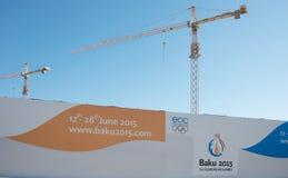 Baku - 21 de março de 2015: 2015 cartazes europeus dos jogos Imagem de Stock Royalty Free