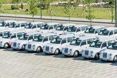 BAKU - 10 DE MAYO DE 2015: Taxis de Londres el 10 de mayo en BAKU Foto de archivo libre de regalías