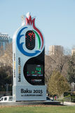 Baku - DECEMBER 28, 2014: 2015 europeiska lekar Royaltyfria Foton