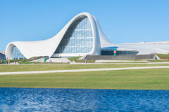 BAKU- DECEMBER 27: Heydar Aliyev Center on Stock Photo