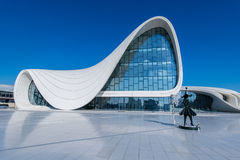 BAKU- DECEMBER 27: Heydar Aliyev Center on Royalty Free Stock Images