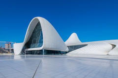 BAKU- DECEMBER 27: Heydar Aliyev Center on Royalty Free Stock Photo