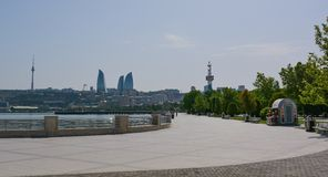 Baku embankment at noon Stock Photography