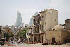 Baku, a entrada à cidade velha Foto de Stock Royalty Free