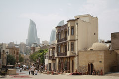 Baku, the entrance to the Old City. Royalty Free Stock Photo