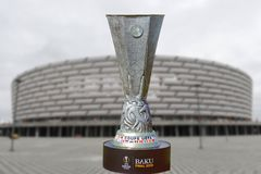 Baku finał 2019 Coupe Uefa Europa League 2019 Baku stadium Olimpijski finał 2019 zdjęcia stock