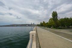 Baku fjärd, boulevard Arkivbilder