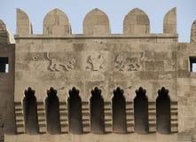 Baku, Flachrelief auf altem Kontrollturm lizenzfreie stockfotografie
