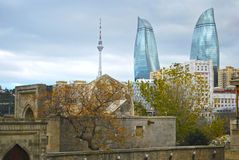 Baku, Flame Towers Stock Image