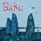 Baku Flame Towers Stock Images