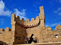 Baku gammal stad Arkivbilder