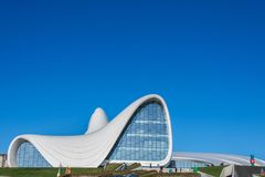BAKU GRUDZIEŃ 27: Heydar Aliyev centrum dalej Obraz Stock