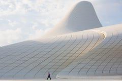 Baku Heidar Aliyev Cultural Center Azerbajdzjan Arkivbilder