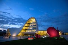 Baku Heidar Aliyev Cultural Center Azerbajdzjan Royaltyfri Bild