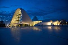 Baku Heidar Aliyev Cultural Center Azerbajdzjan Royaltyfria Bilder