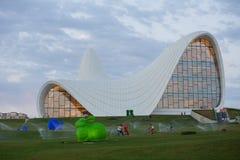 Baku Heidar Aliyev Cultural Center Azerbajdzjan Arkivfoto
