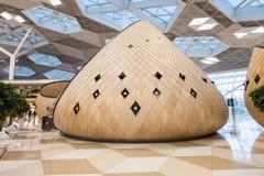 Baku Heydar Aliyev Airport. BAKU, AZERBAIJAN - SEPTEMBER 16, 2016: Baku Heydar Aliyev International Airport interior. It is  one of the six international Stock Photo