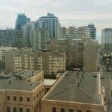 Baku huvudstad av Azerbajdzjan fotografering för bildbyråer