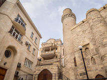Baku. Icheri Sheher (Old Town) of Baku, Azerbaijan. Icheri Sheher is a UNESCO World Heritage Site since 2000 Stock Photos