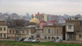 Baku im Januar an einem bewölkten Tag azerbaijan stock video footage